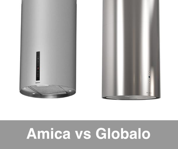 Okap wyspowy Amica vs Globalo