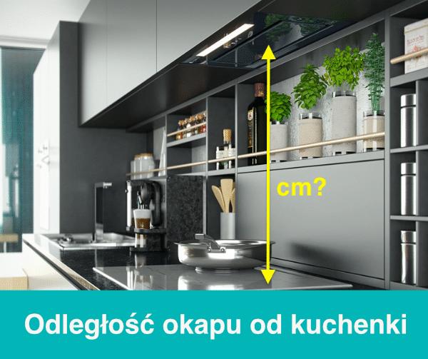 Odległość między okapem a kuchenką