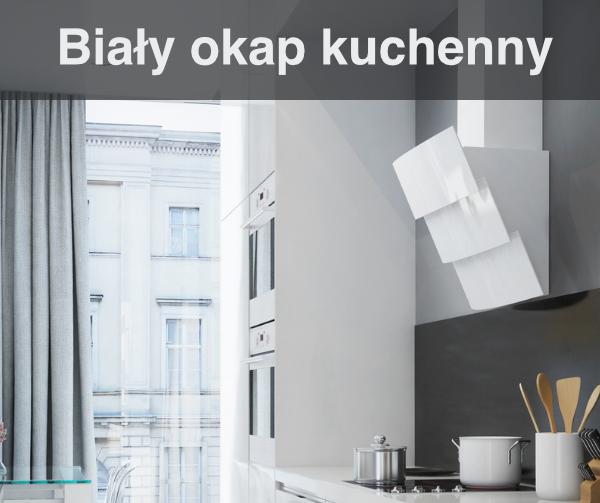 Okap kuchenny biały