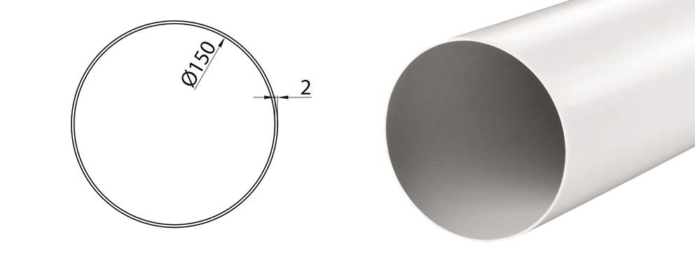 Rura do okapu okrągła fi 15 cm