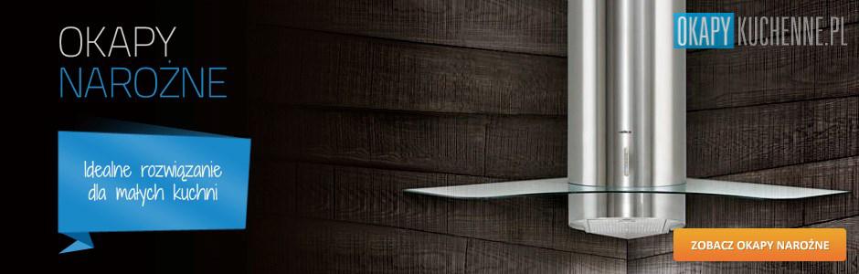 Nowoczesne okapy narożne 90 cm